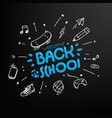 welcome back to school concept editable layout vector image