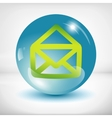 White mail icon vector image