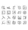 window cleaning line icon set vector image
