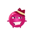 Womanizer Round Character Emoji vector image vector image