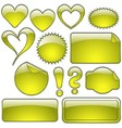 Yellow Glass Shapes vector image vector image