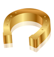 gold horseshoe vector image