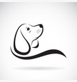 beagle dog design on white background pet vector image