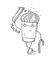 takeaway coffee to go character vector image