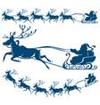 reindeer and santa claus vector image