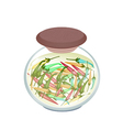 A Jar of Pickled Chili Peppers with Malt Vinegar vector image vector image