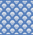 abstract blue floral retro seamless pattern vector image