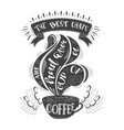 banner of coffee with handlettering poster with vector image vector image