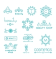 Beauty shop cosmetic industry linear icons vector image vector image
