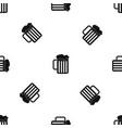 beer mug pattern seamless black vector image vector image