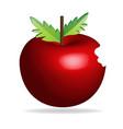 bitten apple icon vector image vector image