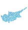 blue dot cyprus island map vector image vector image