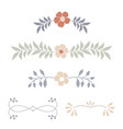botanical ornaments dividers delicate vector image vector image