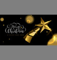 christmas and new year 3d gold star greeting card vector image vector image