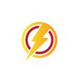 circle flazz electric logo vector image vector image