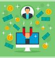 client money retention concept background flat vector image