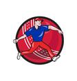 Cricket Bowler Bowling Ball Cartoon vector image vector image