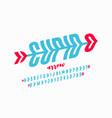 cupids arrow style font vector image