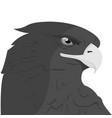 eagle head logo template hawk mascot graphic vector image