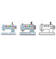 embroidery sewing machine craft tool cloth sew vector image