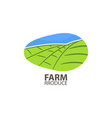 farm produce logo design template vector image vector image