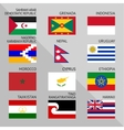 Flags of world 15 vector image vector image