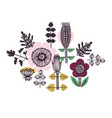 floral card or print in scandinavian style vector image vector image