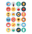 Food Flat Icons 4 vector image vector image
