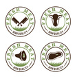 fresh meat labels set vector image vector image
