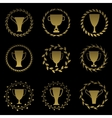 Golden cup set vector image