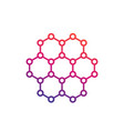 graphene carbon structure vector image vector image