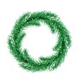 Green christmas tree wreath Spruce branches vector image