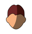 guy faceless head vector image vector image