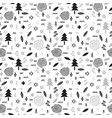 hand drawn tribal seamless pattern with forest vector image vector image