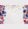happy 4th of july independence day usa blue vector image