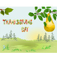 happy thanksgiving day card beautiful autumn vector image