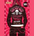 hard rock festival poster vector image