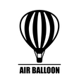 hot air ballon icon vector image vector image