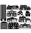House silhouettes set vector | Price: 1 Credit (USD $1)