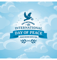 International Day of Peace background vector image vector image