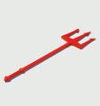 isometric trident devil vector image vector image