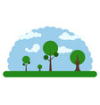 landscape of an outdoor park vector image vector image