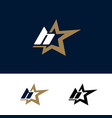 letter h logo template with star design element vector image vector image