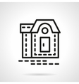 Mansion black line icon vector image vector image