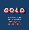 modern bold font and alphabet vintage vector image vector image