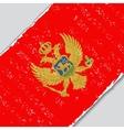Montenegro grunge flag vector image vector image