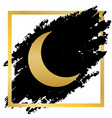 moon sign golden icon at vector image vector image