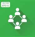 network icon business concept people connection vector image vector image