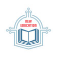 new education - logo template concept vector image vector image