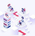 online support isometric color vector image vector image